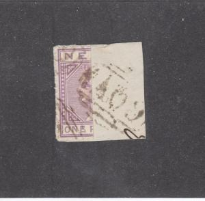 NEVIS # 22a  1p  QUEEN VICTORIA VIOLET HALF USED AS 1/2p ON COVER CAT VALUE $800