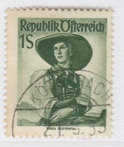 Austria Provincial Costumes 1948 1s Used Stamp A19P54F333