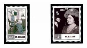 St Helena 532-33 MNH 1990 Queen Mother Birthday