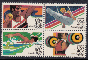 United States Air Post #C108b Olympics block of 4, Please see description.