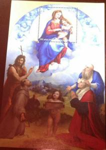 RL) 2010 VATICAN, VIRGIN OF THE FOLIGNO RAFAEL, RELIGION, MNH