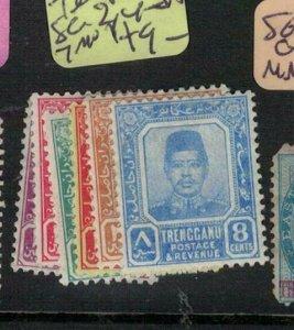 Malaya Trengganu SG 2, 4-5a, 7 MNH (9exb)
