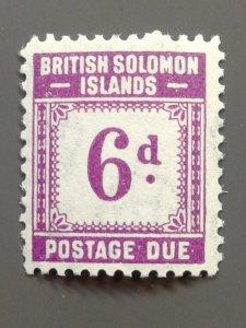 Solomon Islands J6 F-VF MLH.  Scott $ 8.00