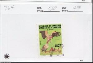 Republic of Cameroon Sc# 764 Θ used F/VF Turkey Vultures, bird postage stamp