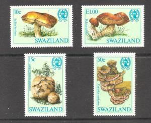 Swaziland  (1984 )  - Scott # 457 - 460,    Mushrooms