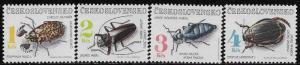 Czechoslovakia 2863 - 66 mnh  2017 SCV $6.40 Insects - complete set