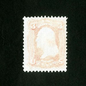 US Stamps # 88 F+ Slightly faded w/ strong grill dist OG H Scott Value $950.00