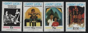 ST. LUCIA, 791-794, (4) SET, MNH,1985 International year of youth