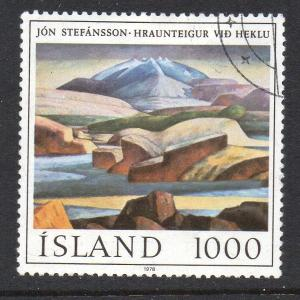 Iceland Sc 511 1978 1000 kr Stefansson Painting stamp used