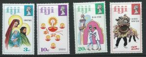 FIJI SG485/8 1973 FESTIVALS OF JOY MNH