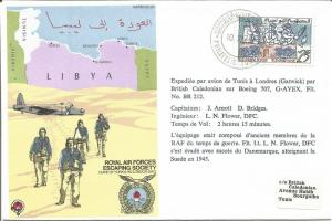 French Flown RAF Escaping Society Cover 1979 RAFES SC23 Tunisia Libya Z7872