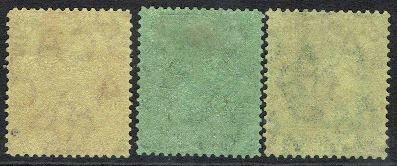 CAYMAN ISLANDS 1921 KGV 4D 1/- AND 5/- WMK MULTI CROWN CA