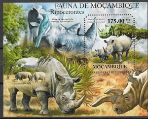 Mozambique MNH S/S Rhinoceros 2013