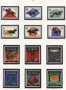 NEW ZEALAND SELECTION OF 1996  ISSUES ON LIGHTHOUSES PAGES MINT NH-SCOTT $211.85