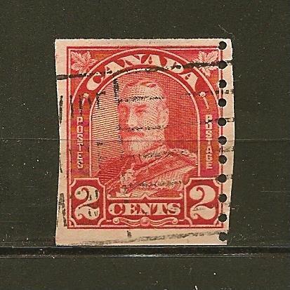 Canada 181 King George V Coil Machine Cut Used