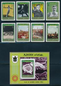 Ajman - Munich Olympic Games MNH Perf Set (1972)