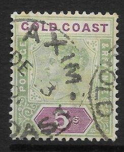 GOLD COAST SG33 1900 5/= GREEN & MAUVE USED