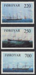 Faroe Islands 1983 MNH old cargo liners  complete