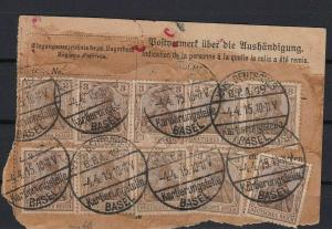 [SOLD] germany multi basel cancelled  used stamps  ref r13398