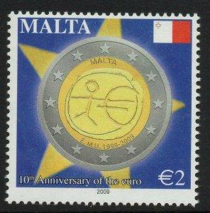 MALTA SG1619 2009 10th ANNIVERSARY OF THE EURO MNH