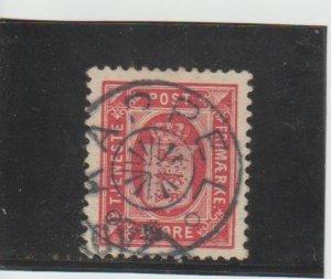 Denmark  Scott#  O15  Used  (1902 Official)
