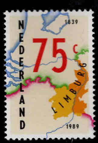Netherlands Scott 750 MNH** 1989 Map stamp