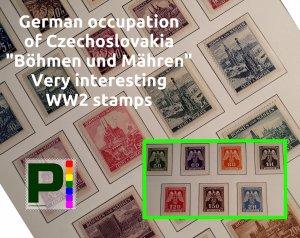 German Occupation of Czechoslovakia   Böhmen und Mähren   FREE shipping