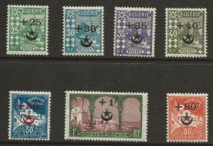 Algeria (1927)  - Scott # B5 - B11,   MH