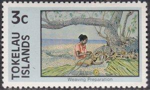 Tokelau Islands 51 Weaving Preparation 1976