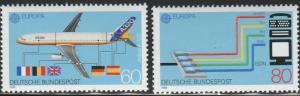 Germany, #1552-1553  MNH, 1988