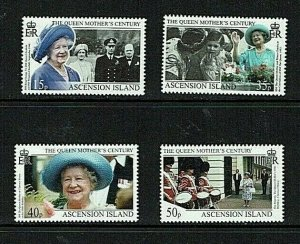 Ascension Island: 1999 Queen Mother's Centenary,  MNH set.