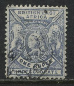 British East Africa QV 1898 1 rupee pale blue used