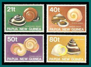 Papua New Guinea 1991 Land Shells, MNH  750-753,SG632-SG635