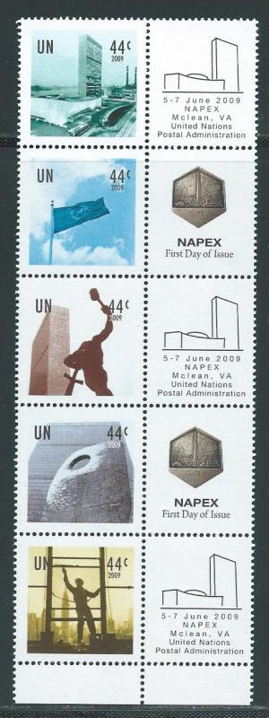 United Nations 982-6 2009 Personalized Strip NAPEX MNH