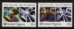 United Nations - New York 497-8 MNH Fight Drug Abuse, Education