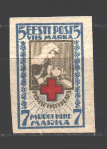 Estonia. 1921. 30B from the series. Red Cross. MNH.