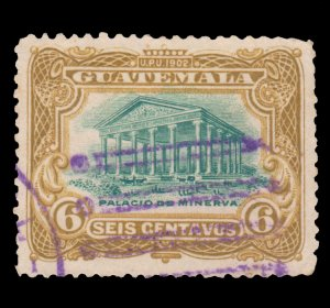 GUATEMALA STAMP 1902 SCOTT # 117. USED. # 2