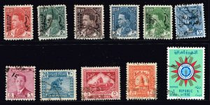 IRAQ STAMP USED STAMPS COLLECTION LOT