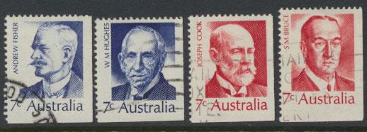 SG 505-508  Fine Used  Famous Australians  4th Series - bottom right imperf m...