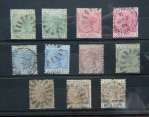 Barbados 1882 - 1886  values to 4d Brown & 4d grey Used