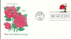 1993, Rose Self-Adhesive Stamp, Artmaster, FDC (D14426)