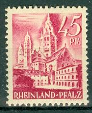 Germany - French Occupation - Rhine Palatinate - Scott 6N10 (SP)