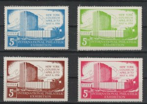 USA- International Philatelic Expo, New York 1956 Lot of 4 MNH