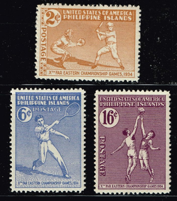 Philippines Stamp 1934 The 10th Far Eastern Championship Games MH/OG STAMPS SET