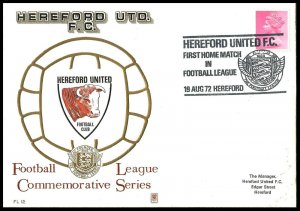 1972 Hereford United FC First Ever Match In The Football League First day Cover
