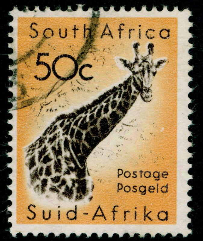 SOUTH AFRICA SG196, 50c black-brown & orange-yellow, FINE USED. Cat £10.