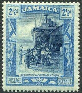 JAMAICA-1921 2½d Deep Blue & Blue Sg 82 MOUNTED MINT V35206