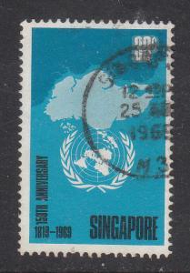 Singapore 1969 Sc 102 150 Years of Founding of Singapore 30c Used