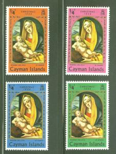 Cayman  Scott 242-4 Christmas 1969 Madonna set MH*
