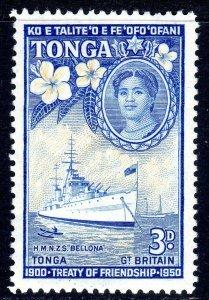 TONGA --  1951 -- SG 98  -   3d   value     MM